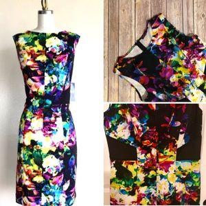 Floral Scuba Career Dress